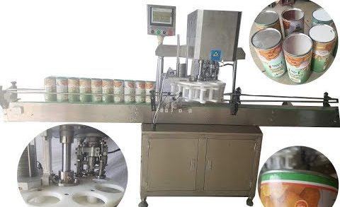 Fully automatic paper can sealing machine food tube capper tin crimper