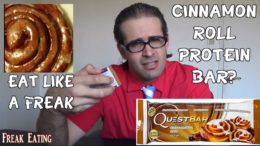 Quest Cinnamon Roll Protein Bar Is #foodporn | FreakEating Review 33