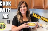 FOODporn.pl HOW TO MAKE TACO SOUP | EASY TACO SOUP DINNER RECIPE | PHILLIPS FamBam COOK WITH ME