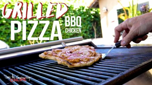 Easy Grilled BBQ Chicken Pizza Recipe | SAM THE COOKING GUY