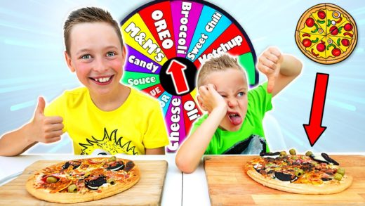 Mystery Wheel of Pizza Challenge for kids!!! Did it turn out Yummy or Awful???