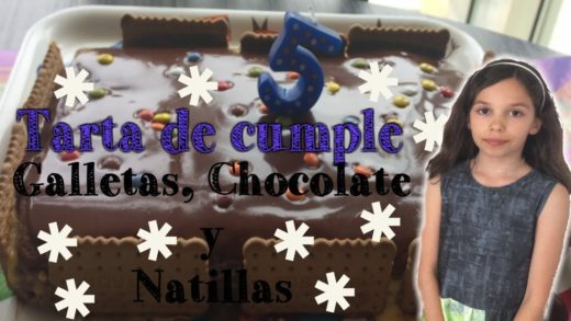 Tarta de Cumple de Chocolate, galletas y Natillas Super fácil
