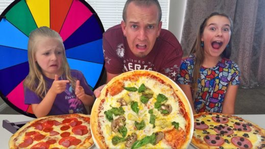 3 Pizza Toppings Mystery Wheel Challenge! He Eats It!!!
