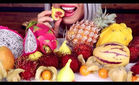 ASMR Eating Exotic Fruit | *Whispering* My First Time Reactions