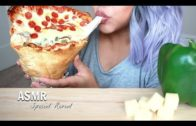 FOODporn.pl ASMR Special Reveal + Giant Pizza Cone [Crunchy Eating Sounds] *No Talking  UPDATED