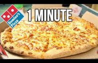 FOODporn.pl Domino's Medium Pizza in 1 Minute Challenge (vs MATT STONIE vs L.A. BEAST)