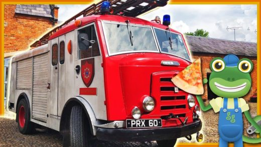 Fire Engine Pizza Truck For Children   Gecko's Real Vehicles