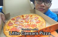FOODporn.pl First time eating LITTLE CAESARS PIZZA *MUKBANG