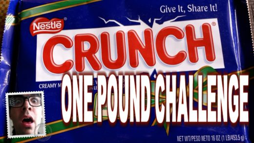 Food Challenge: Giant 1 lb Crunch Bar from Xmas #FoodPorn | FreakEating vs the World 73