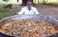 FOODporn.pl Giant Pizza | Veg Pizza | Amazing Pizza Cooking by our grandpa for  Orphan kids