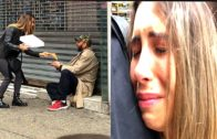 FOODporn.pl Giving Pizza To Homeless People in NYC – Social Experiment 2018