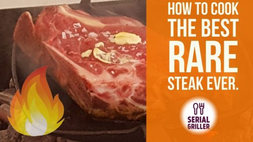 HOW TO COOK THE BEST RARE STEAK .