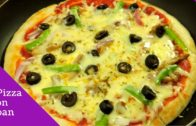 FOODporn.pl How To Make Pizza On Pan Or Tawa – How To Make Pizza Without Oven by (HUMA IN THE KITCHEN)