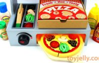FOODporn.pl How to Make Play Doh Pizza Toy Velcro Cutting with Microwave Oven Baby Toy Appliance for Kids