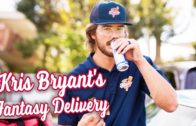 FOODporn.pl Kris Bryant pulls pizza delivery prank on Fantasy Baseball Leagues.