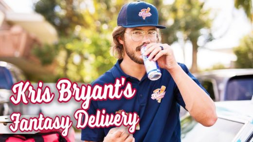 Kris Bryant pulls pizza delivery prank on Fantasy Baseball Leagues.