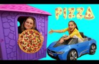 FOODporn.pl Melike Neyli Pizza Yedi Play House Bought Pizza, Funny Video For Kids – Learning Numbers Colors With