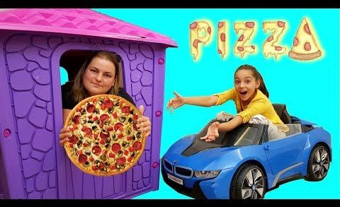 Melike Neyli Pizza Yedi Play House Bought Pizza, Funny Video For Kids - Learning Numbers Colors With