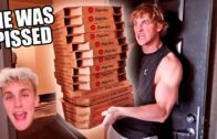 FOODporn.pl ORDERING GIANT PIZZAS TO MY BROTHERS HOUSE (PRANK WARS)