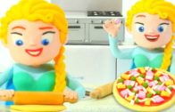 FOODporn.pl PRINCESS ELSA COOKING PIZZA ❤ SUPERHERO PLAY DOH CARTOONS FOR KIDS