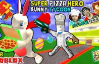 FOODporn.pl ROBLOX Super Pizza Hero Easter Bunny Tycoon! FGTEEV #18 Superhero Eggs w/ Hulkbuster