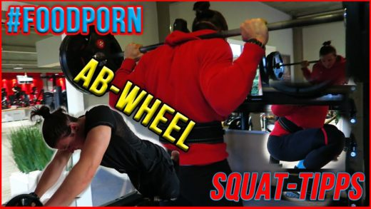 SQUAT-Tipps | AB WHEEL | Geile Kreation #foodporn | Pause Squats | Legs 1