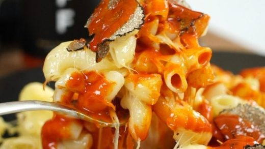 Taking our Mac n Cheese to the next level with TRUFF  Truffle Hot Sauce  Who loves Mac N Cheese?? ...
