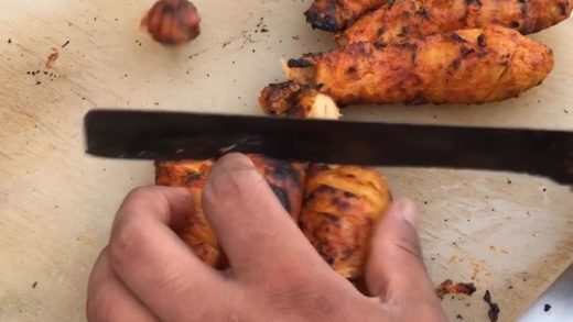Tandoori chaap in making  ... Which is your favourite chaap ? Comment below  . . . . Follow ...