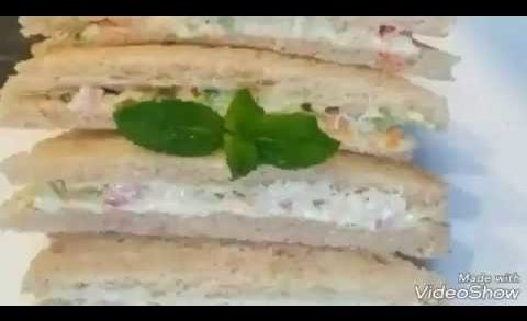 Very easy Veg Mayonnaise sandwich by Delicious food recipes