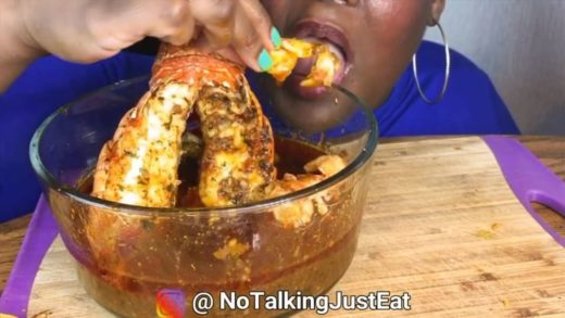 cr:   _ Food: Seafood boil with bloves sauce  _ All hate will be deleted (this video is for ASMR purposes) -                               _ This video belongs to the person tagged at the beginning of my caption _ 165k...