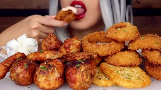 onion rings mukbang again since ur loved the previous one sm - - - - (c)  - - - -                          ...