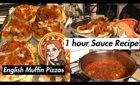 1 Hour Quick Sauce Recipe   English Muffin Pizzas   Vlog-O-Ween Day 10 2018