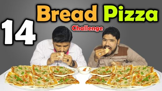 14 Bread Pizza Eating Challenge   Home Made Bread Pizza Challenge   Yummy Dare