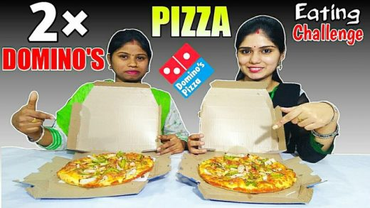 2 × MEDIUM DOMINO'S PIZZA EATING CHALLENGE | Domino's Pizza Competition | Food Challenge India