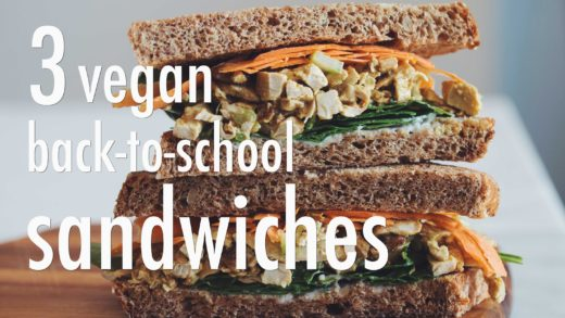 3 VEGAN BACK-TO-SCHOOL SANDWICHES   hot for food