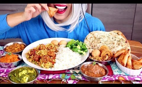 Asmr Eating Indian Food Feast | Epic Meal *Whispering*