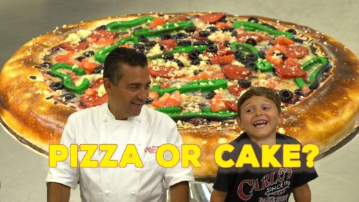 Awesome Pizza Fake-Out Cake by the Cake Boss & Carlo | Cool Cakes 12