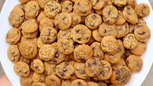 BITE-SIZED PUMPKIN SPICE CHOCOLATE CHIP COOKIES Yes, you are allowed to eat these by the handful This is the newest recipe on the blog!! ...