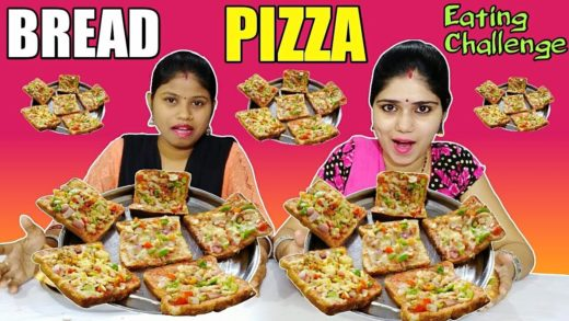 BREAD PIZZA EATING CHALLENGE | Bread Pizza Competition | Food Challenge India
