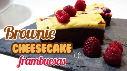 Brownie Cheesecake de Frambuesas | Brownie Tarta de Queso | Recetas Thermomix