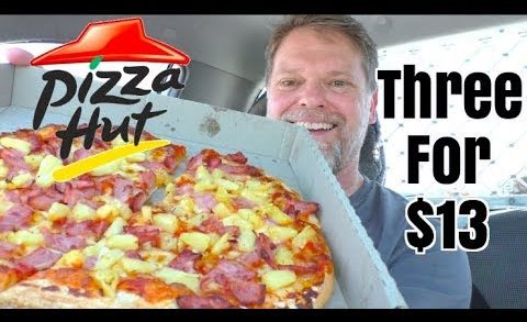 Can I Eat 3 Pizzas? Pizza Hut 3 for $13 Review - Greg's Kitchen Mukbang