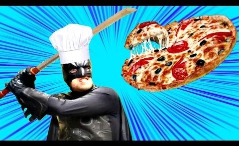 Can SUPERHEROES Cook? BATMAN Makes a DISGUSTING Pizza! DCTC Real Life SUPER HERO Videos