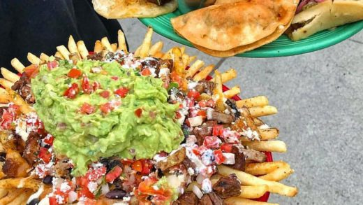 Carne Asada Fries & Assorted Taco Platter! 1st choice left or right?!  Love Food? Follow us:   pc:  Tag a Food Lover!...