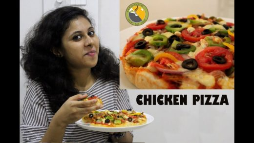 Chicken Pizza Without oven | Home Made Pizza | Ep #013