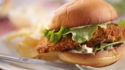 Crispy Buffalo Chicken Sandwiches- Everyday Food with Sarah Carey