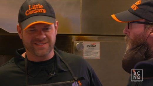 Crowder Makes A Pizza with Little Caesars