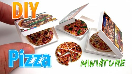 DIY Miniature Pizza with box ● No Polymer Clay! ● No need for paint!