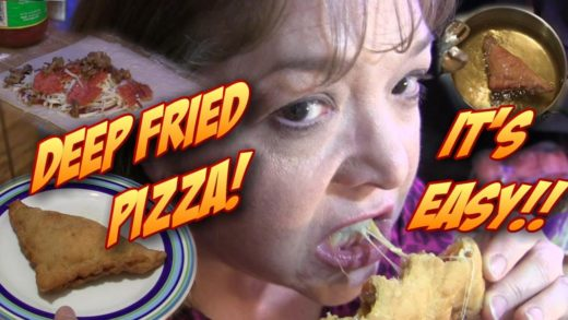 Deep Fried PIZZA!  Great for Your Football Watch Party!