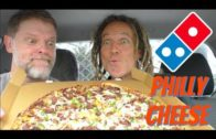 FOODporn.pl Domino's Philly Cheese Steak New Yorker Pizza Review Mukbang- Greg's Kitchen