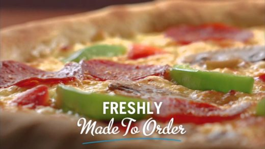 Domino's Pizza- freshly made to order